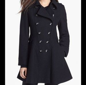 NWT Via Spiga Wool Double Breasted Peplum Coat- 10